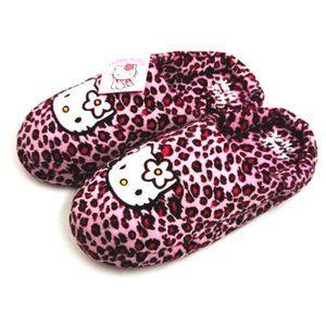 Sanrio Women's Hello Kitty Slippers Pink Leopard